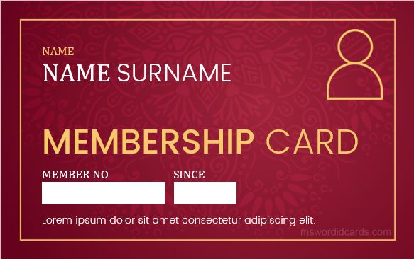 Membership Card Template Gallery - Template Design Ideas