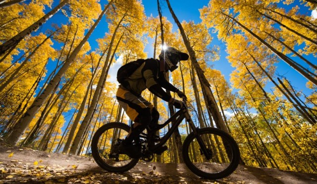 autumn mountain biking in the Gunnison valley