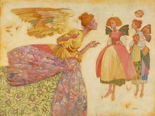 Джеймс Кристенсен. Ангел и две феи