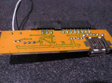 The backside of the control board.