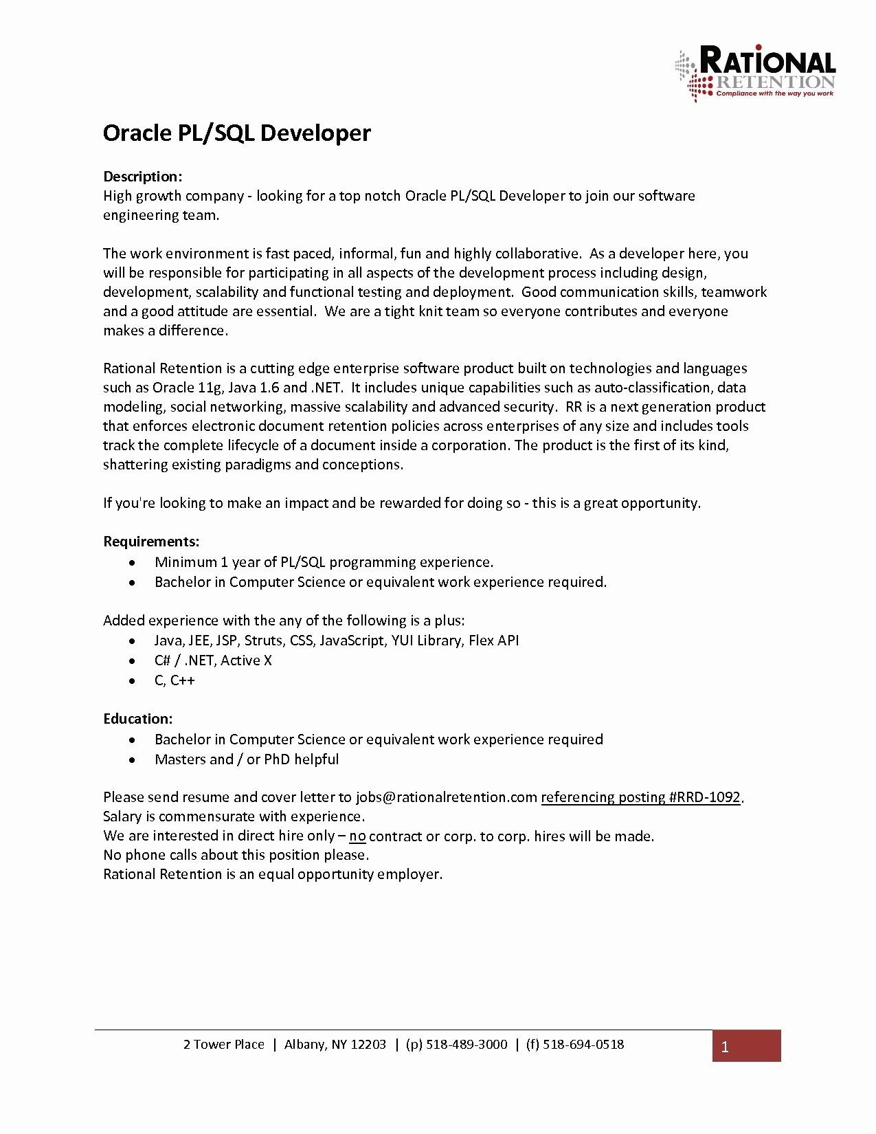 1 year experience software engineer resume sample