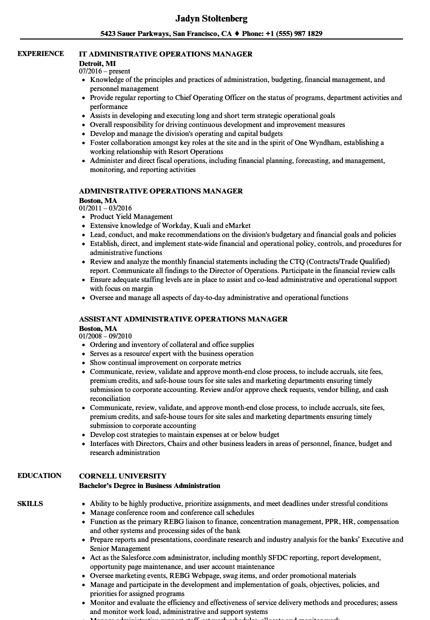 resume samples for office manager