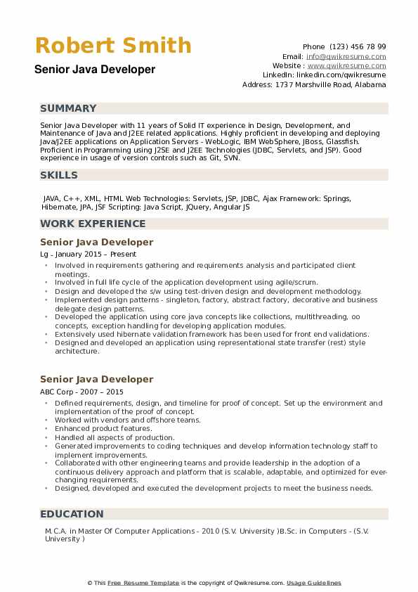 cv template consulting