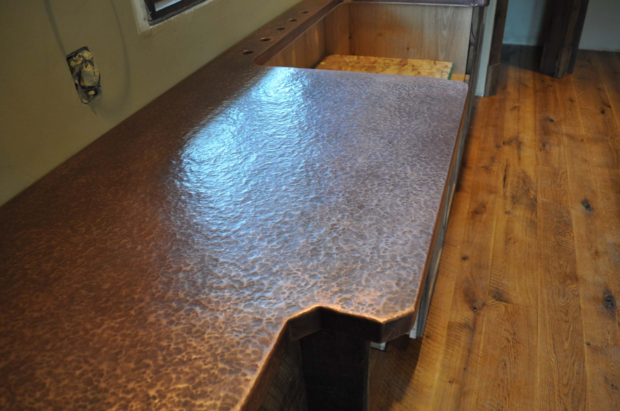Copper Laminate Countertops Antique Custom Copper Counter Top