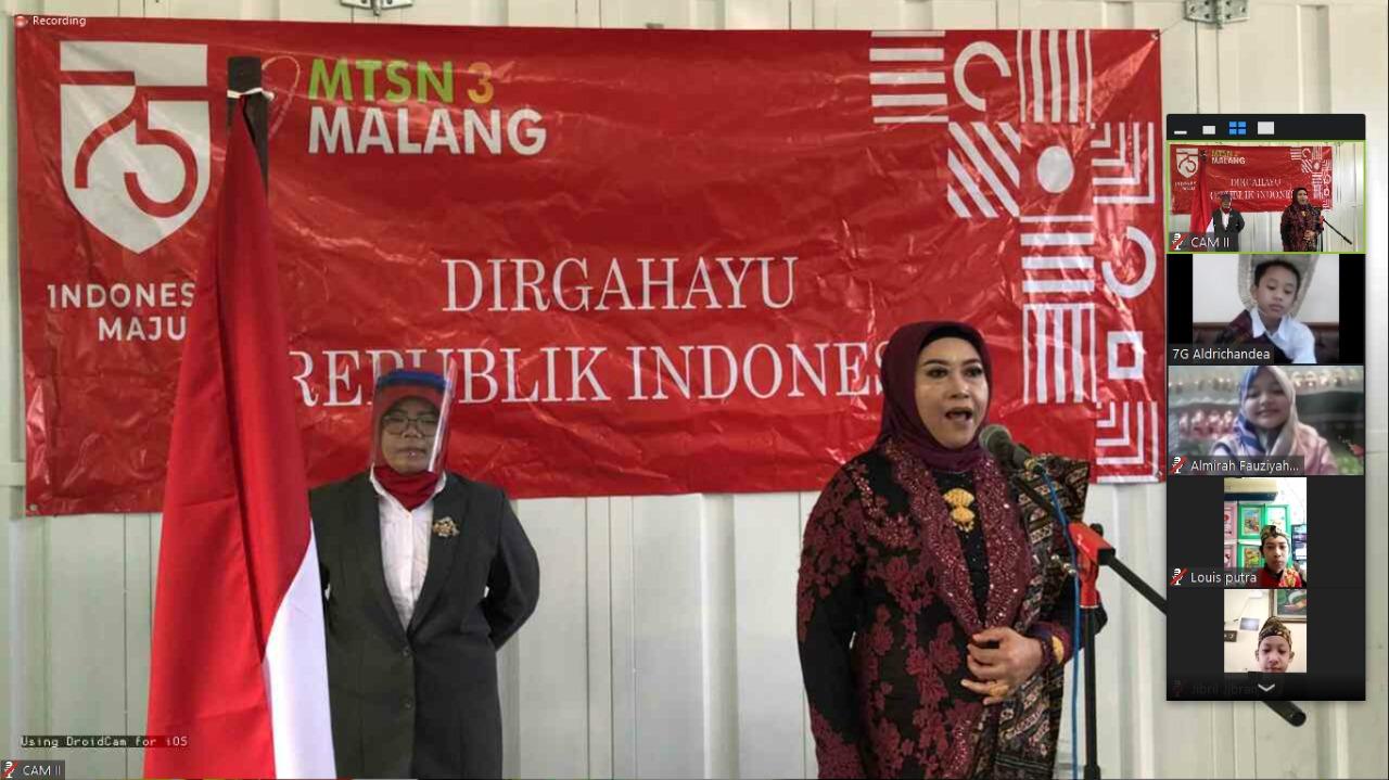 Upacara Virtual Dirgahayu Indonesia