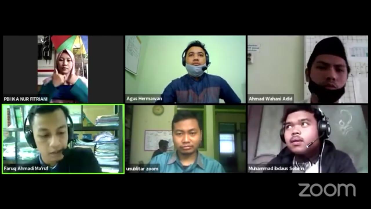 MTsN 3 Malang Menjadi Narasumber Webinar Series#15 PBI UNU Blitar