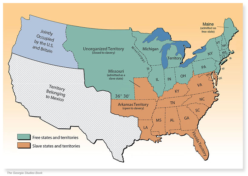 Missouri Compromise {1820} \u2013 Mountain View Mirror