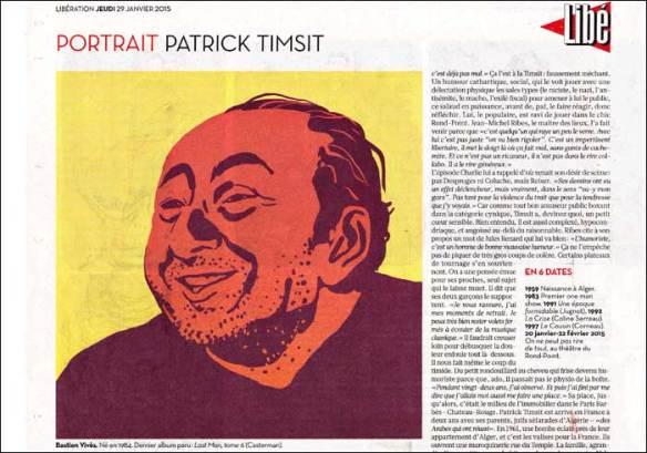 Profile section; portrait by Bastien Vivès