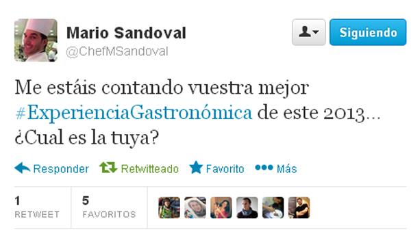 Tuit de Mario Sandoval
