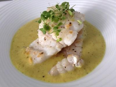 recetas de pescado: Bertorella con curry de melón