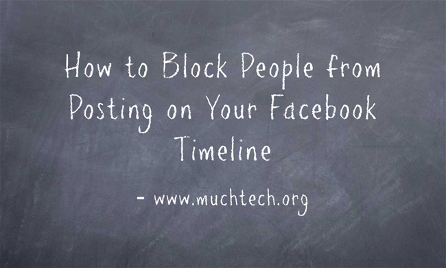How to block people from posting on your Facebook Timeline