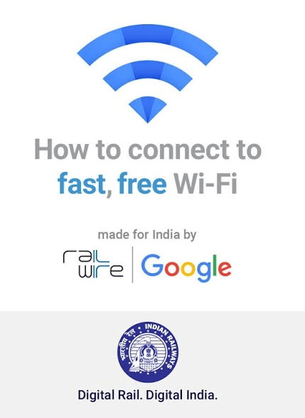 How to connect to Google's free RailWire Wi-Fi network in India