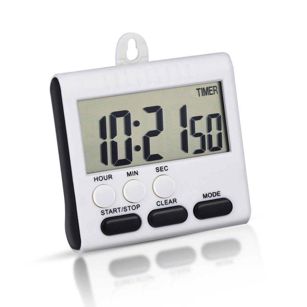 Alarm Timer Mudder Magnetic Alarm Digital Kitchen Timer 24 Hours Clock Timer