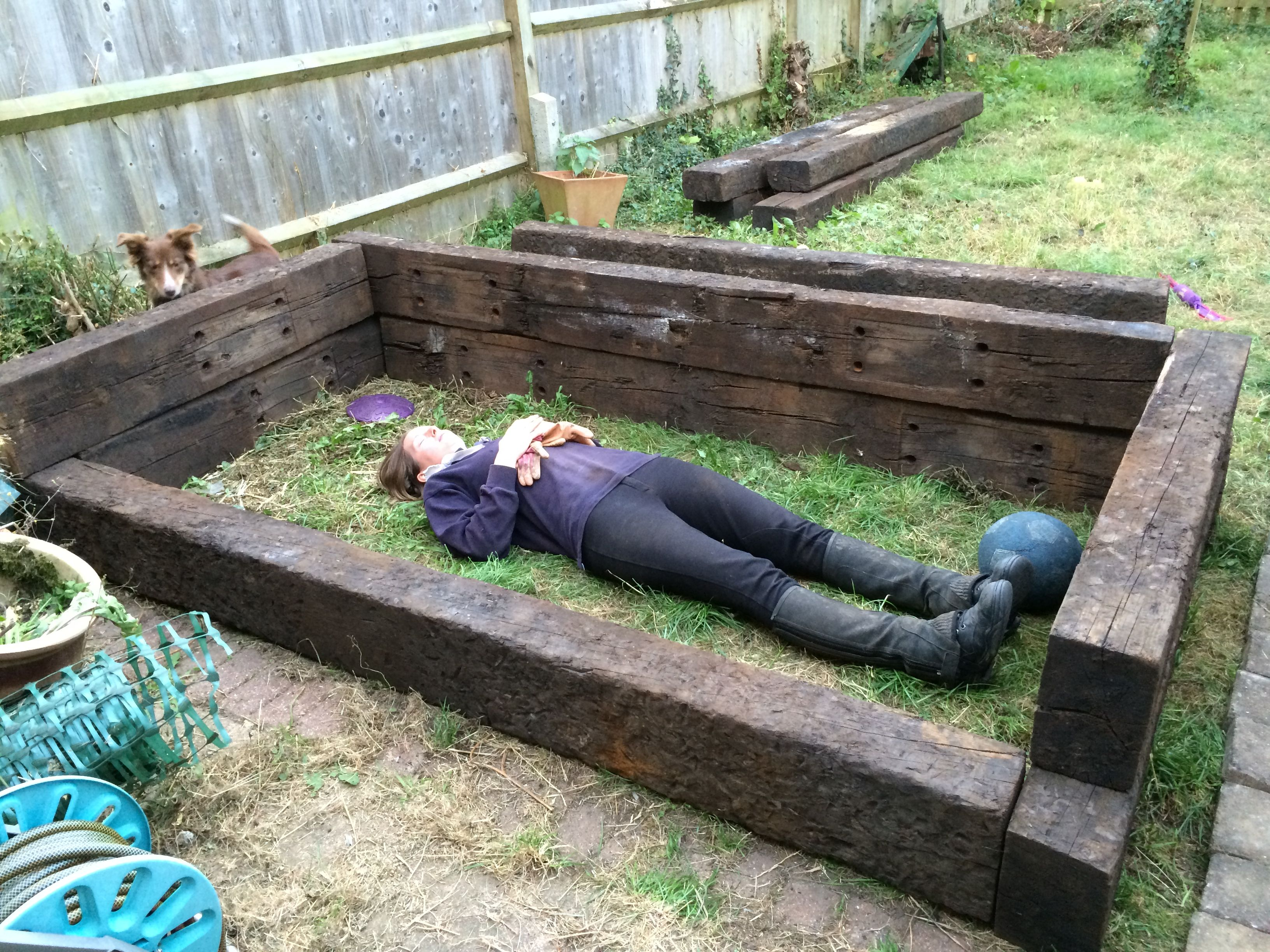 Using Railway Sleepers For Raised Vegetable Beds Sleeper Raised Bed Prototype 1