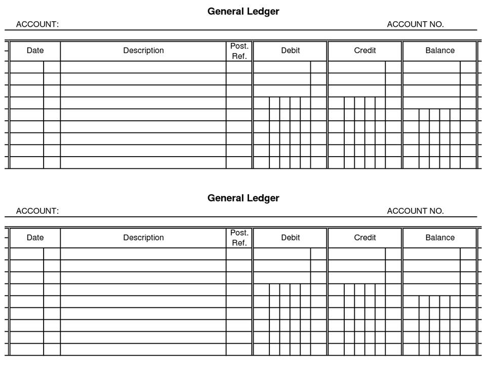 Format of a Ledger MUDRANKA - general ledger format