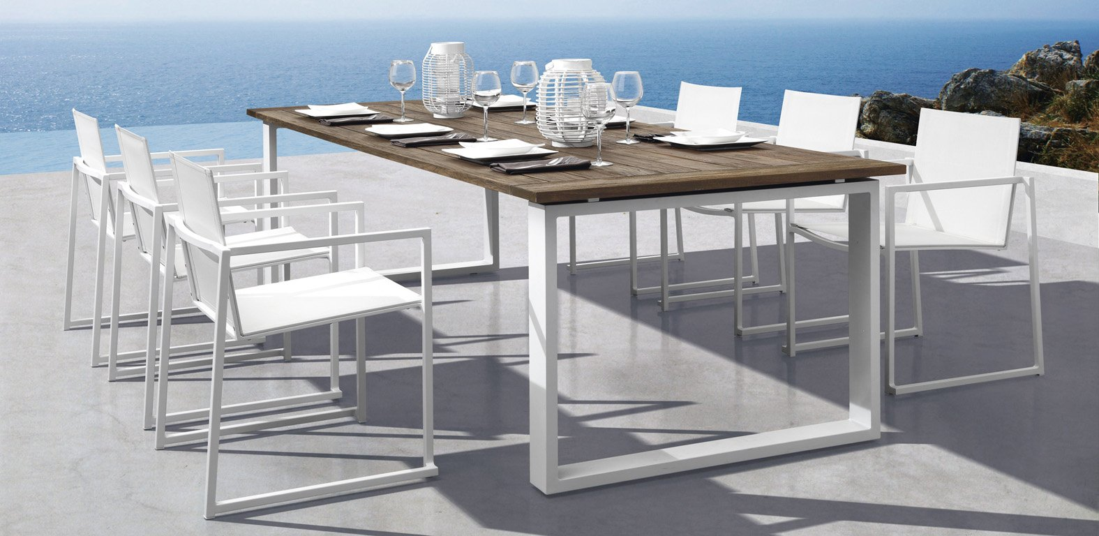 Moderne Tuinset Silla Comedor Exterior Muebles