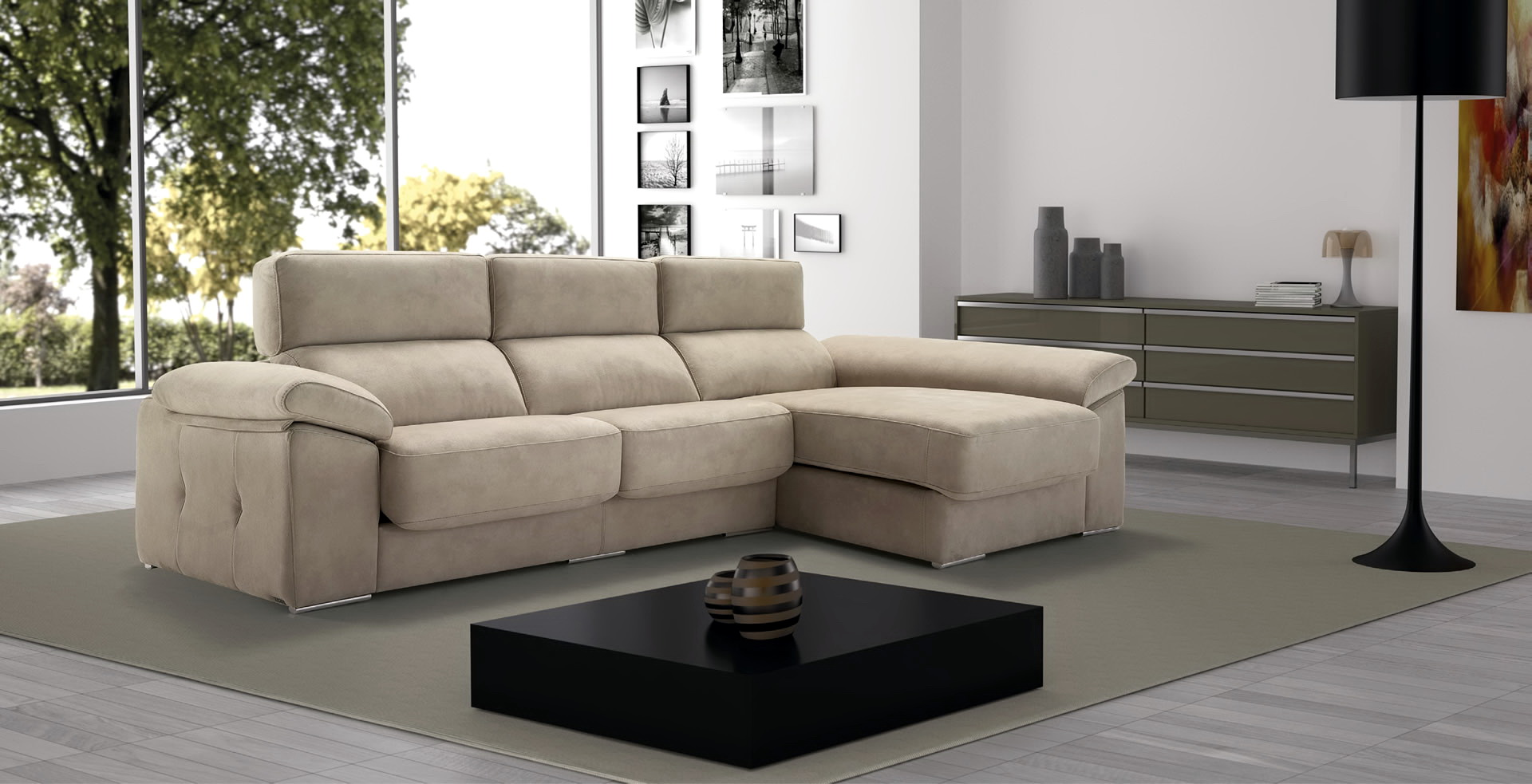 Muebles Soria Soria Sofá Chaise Longue Modular Asientos Extensibles By