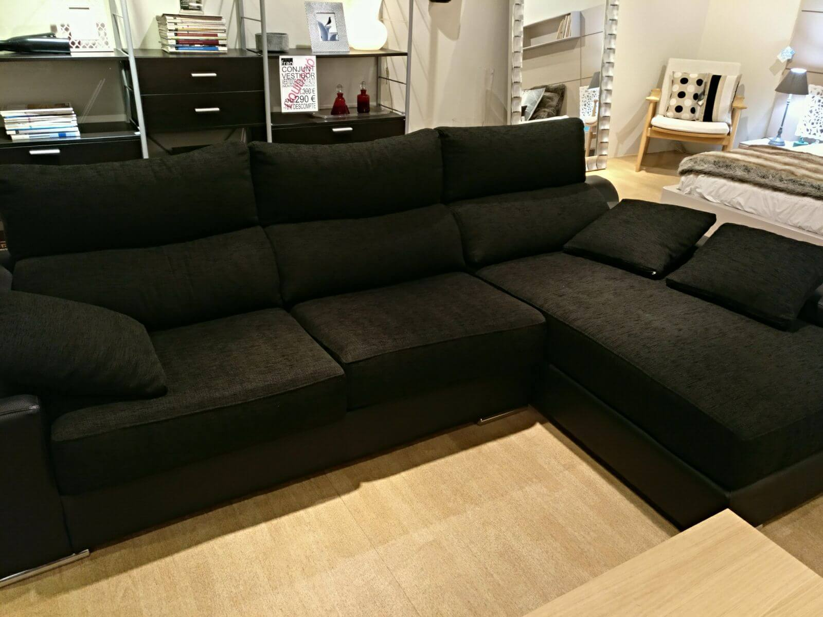 Outlet Sofas Barcelona Sofá Con Chaise Longue Tienda Muebles Fran Barcelona
