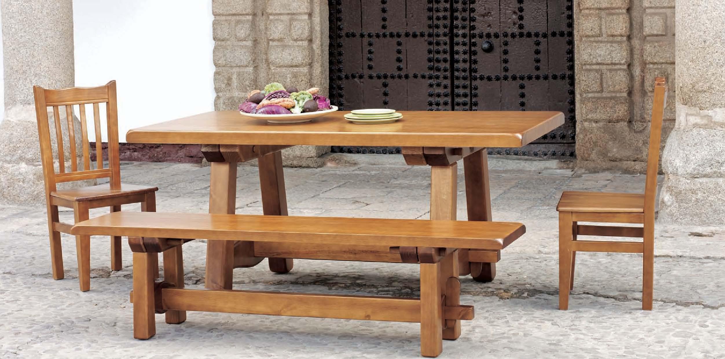 Sillas Rusticas De Madera Para Comedor | Oferta De Mueble Online ...