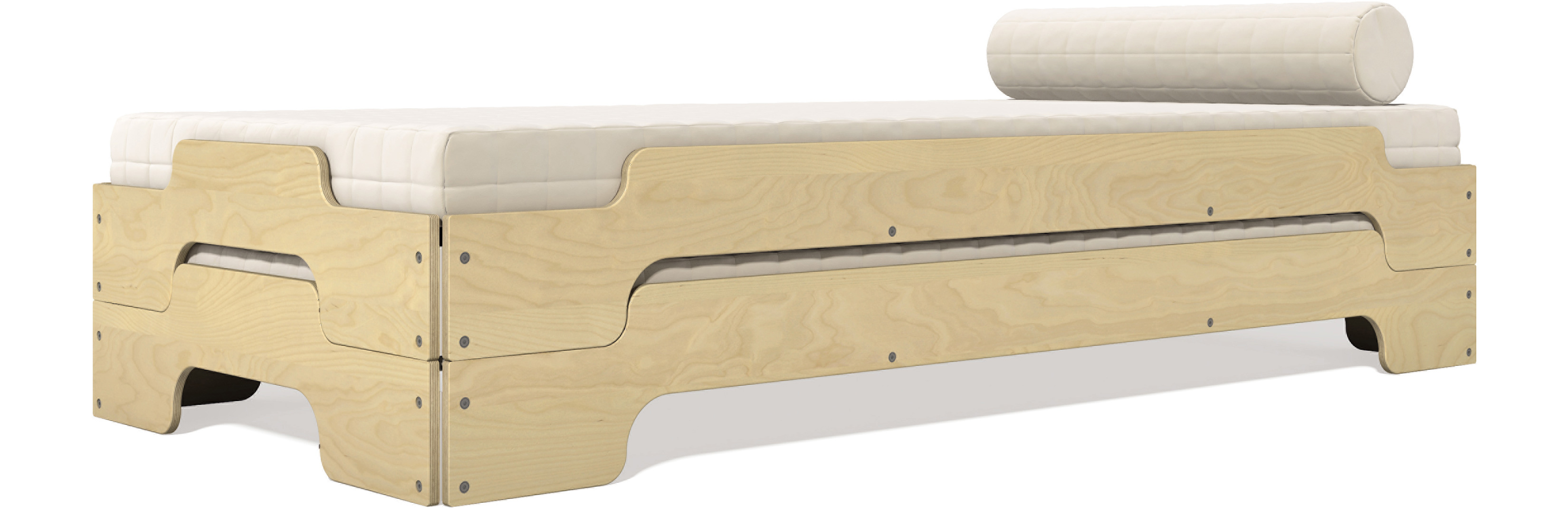 Rolf Heide Stapelliege Stacking Bed Classic Birch