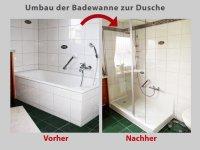 Wanne zur Dusche - die barrierefreie Dusche in 8 Std ...