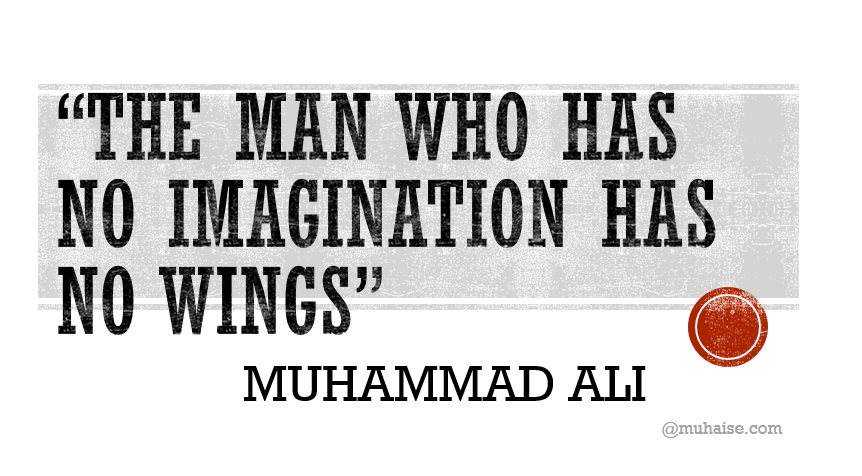 Inspirational quote on imagination