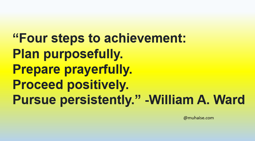 The 4 Ps of achievement