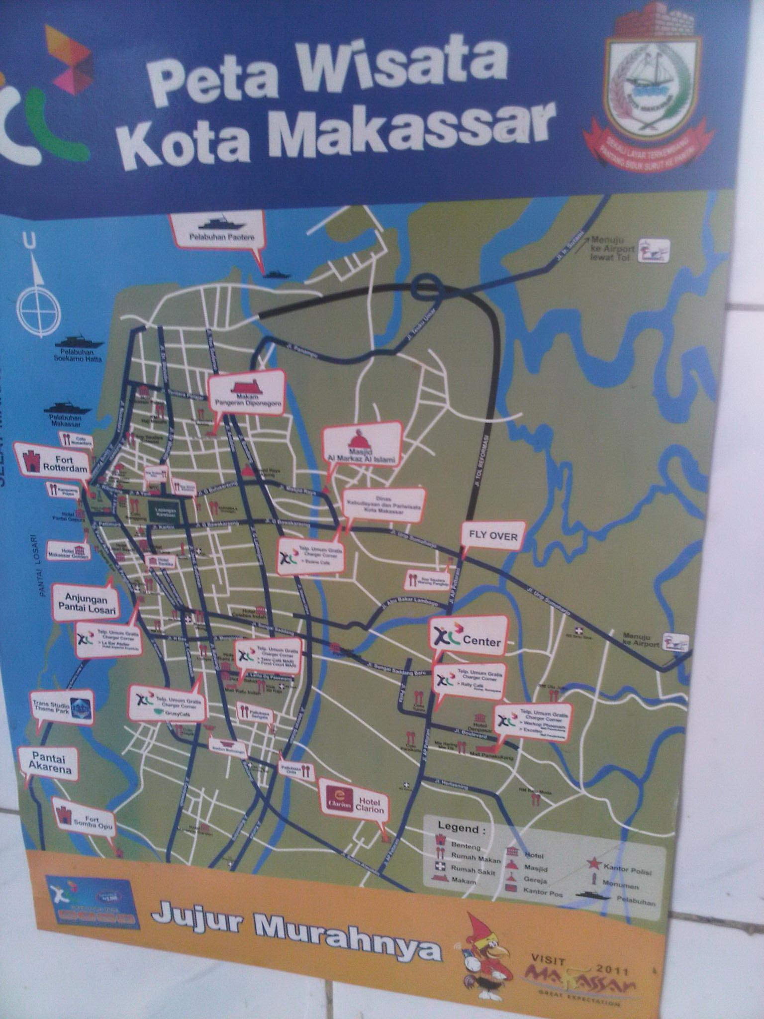 Peta Wisata Kota Makassar