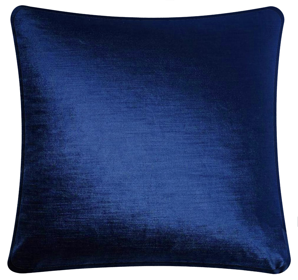 Blue Velvet Cushion Plain Blue Velvet Throw Pillow
