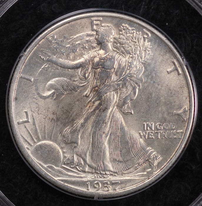 Bulk Jewelry To Sell 1937 S Walking Liberty Half Dollar Pcgs Ms63 Rattler Holder