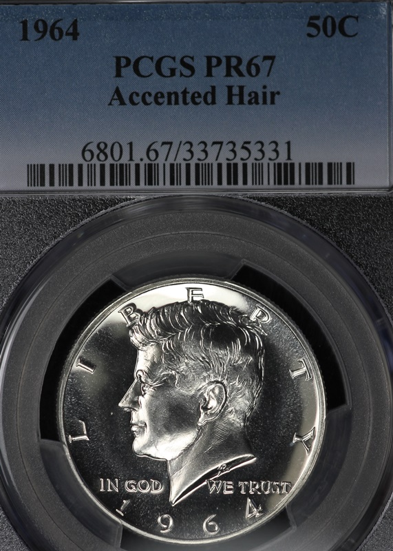 Bulk Jewelry To Sell Beautiful 1964 Accented Hair Kennedy Half Dollar Pcgs Pr67