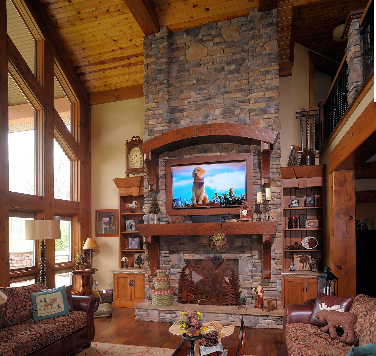 Mullet Cabinet Rustic Fireplace