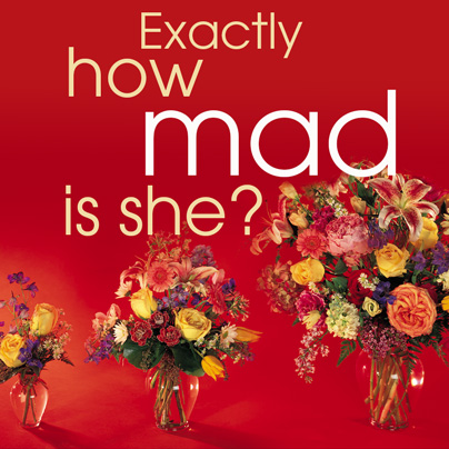 How mad is she? Brilliant advertising Floral shop Great Ideas - funeral program background