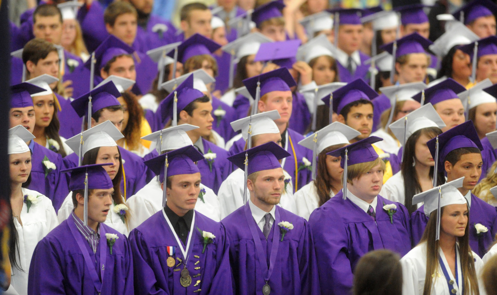 Waterville Senior High School moves to gender-neutral graduation - seniors high school