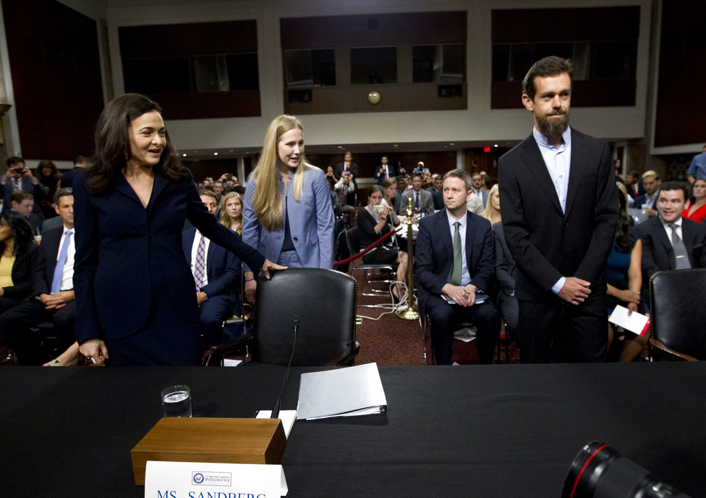 Facebook, Twitter pledge to defend against foreign intrusion - formal event