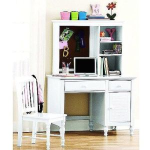 Kylie Collection Desk with Hutch and Chair Value Bundle
