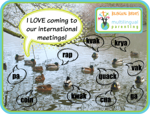 Bilingual Birdies - I love coming to our international meetings!