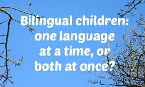 Bilingual children: one language at a time, or both at once?