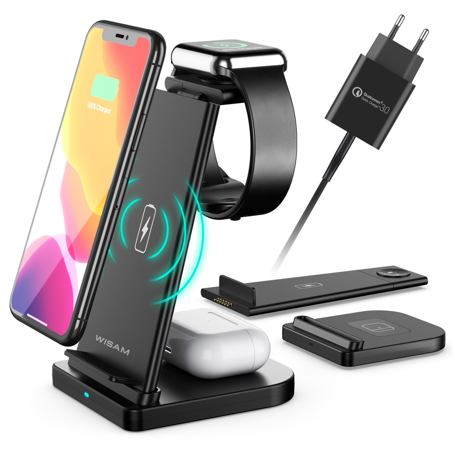 Wisam 3 In 1 Ladestation Airpods Apple Watch Iphone 12 Mmd Multime