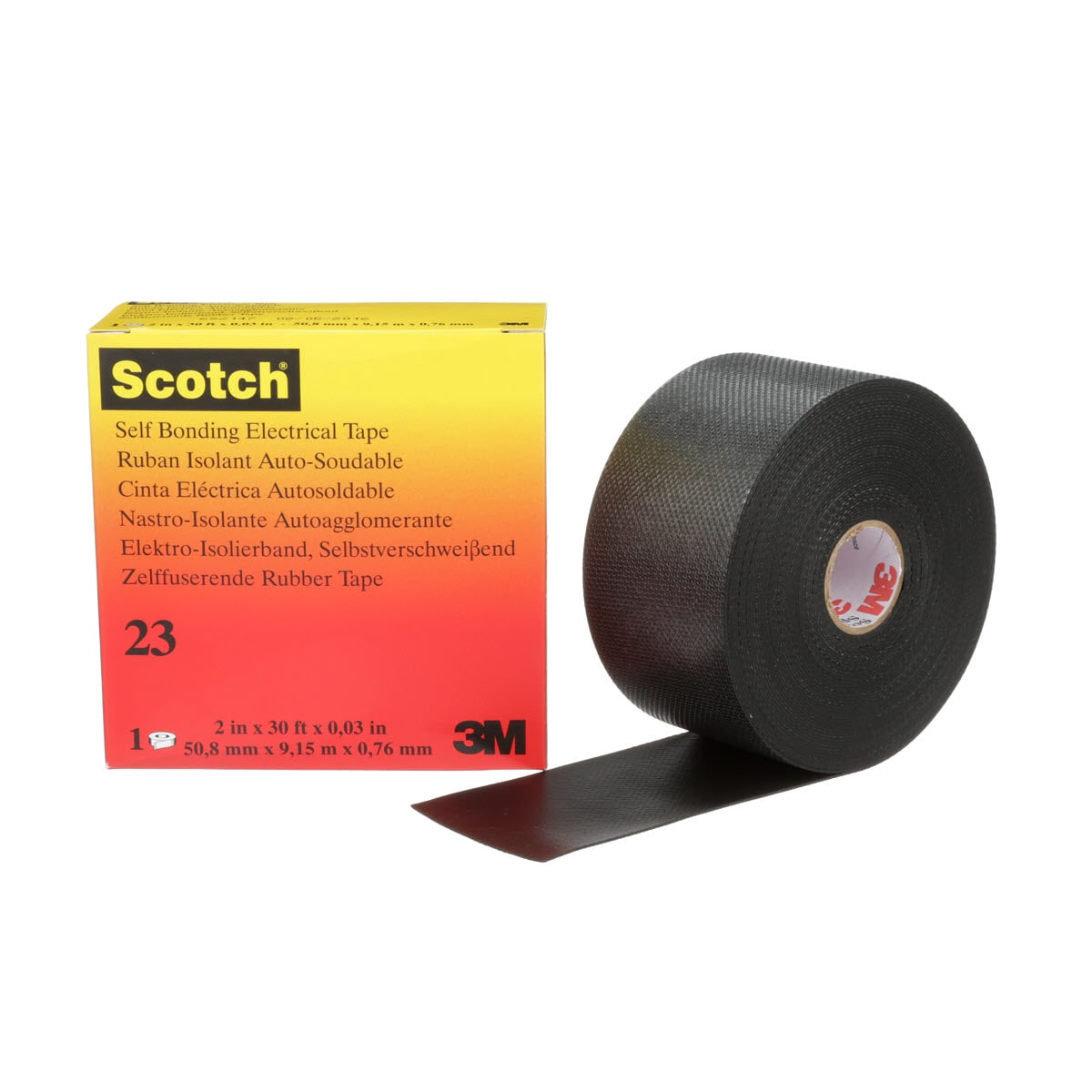 Splicing Tape Scotch Rubber Splicing Tape 23 Black With Liner 30 Mil X 2 In X
