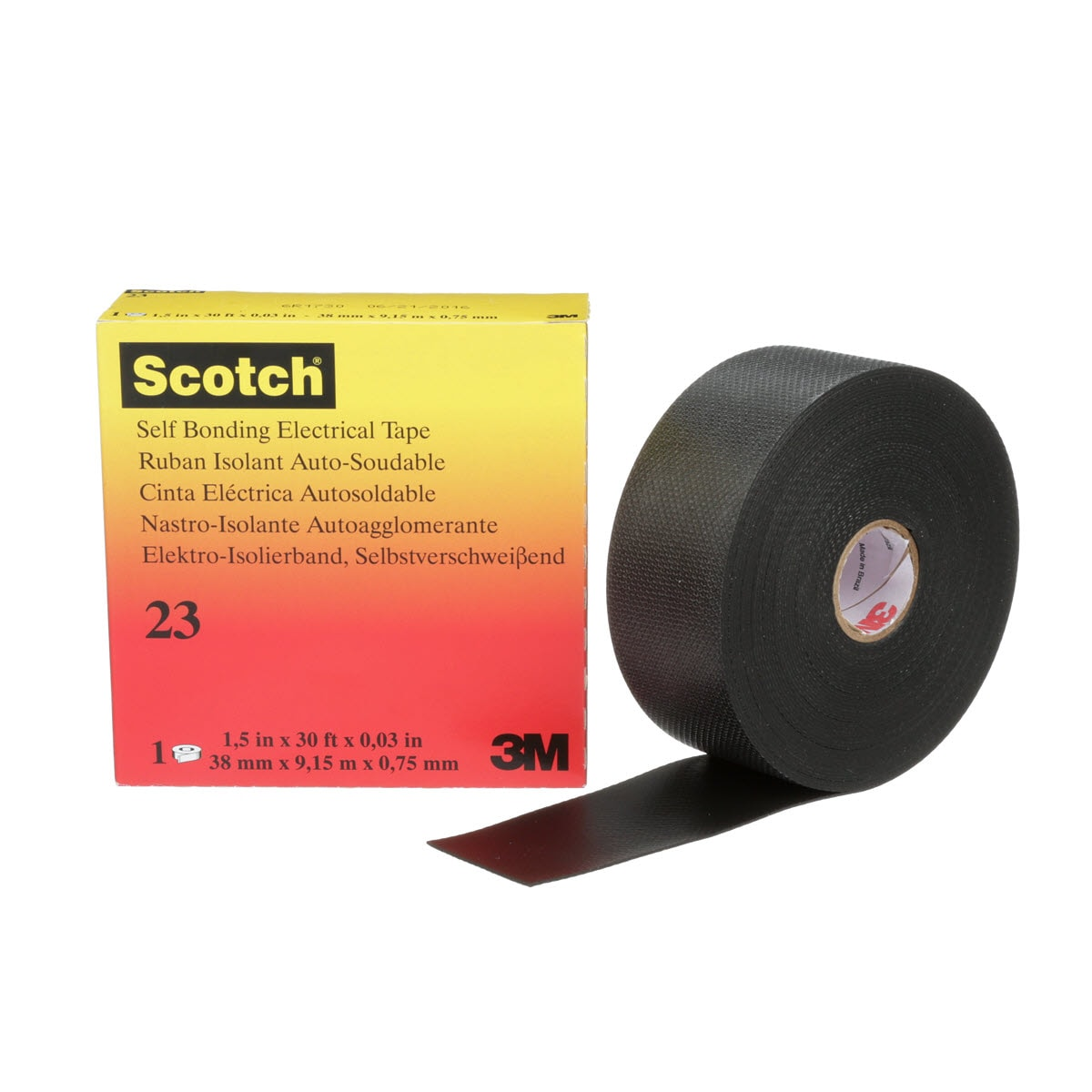 Splicing Tape Scotch Rubber Splicing Tape 23 Black With Liner 30 Mil 75 Mm