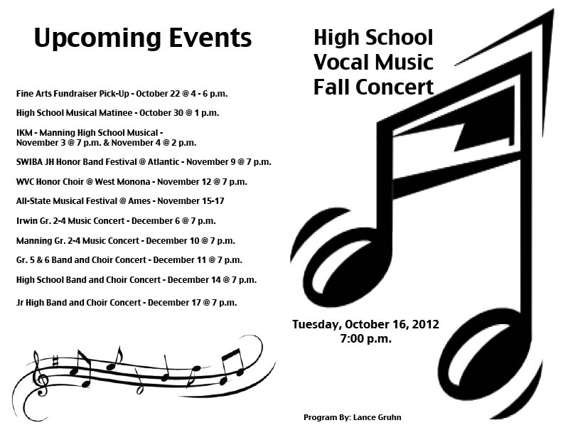 Choir Concerts - Multimedia Design Class Projects