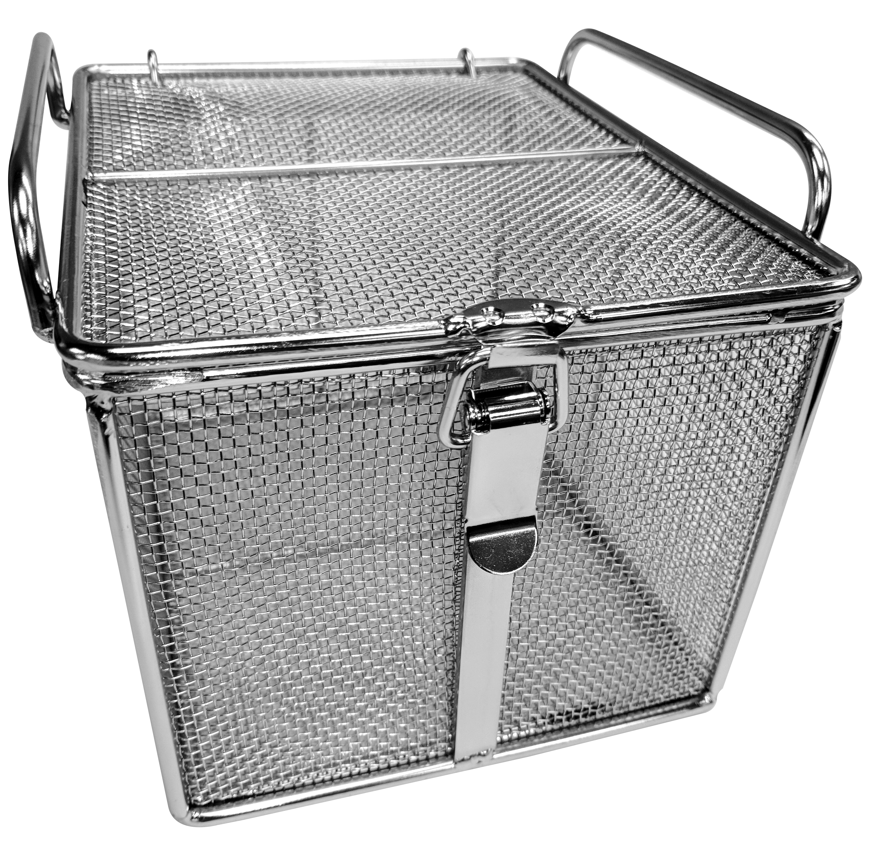 Metal Wash Bin Ultrasonic Decontamination Mesh Baskets Multimesh