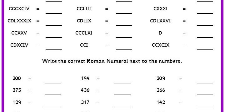 Get Free Printable Roman Numerals 1 to 500 Charts Multiplication Table