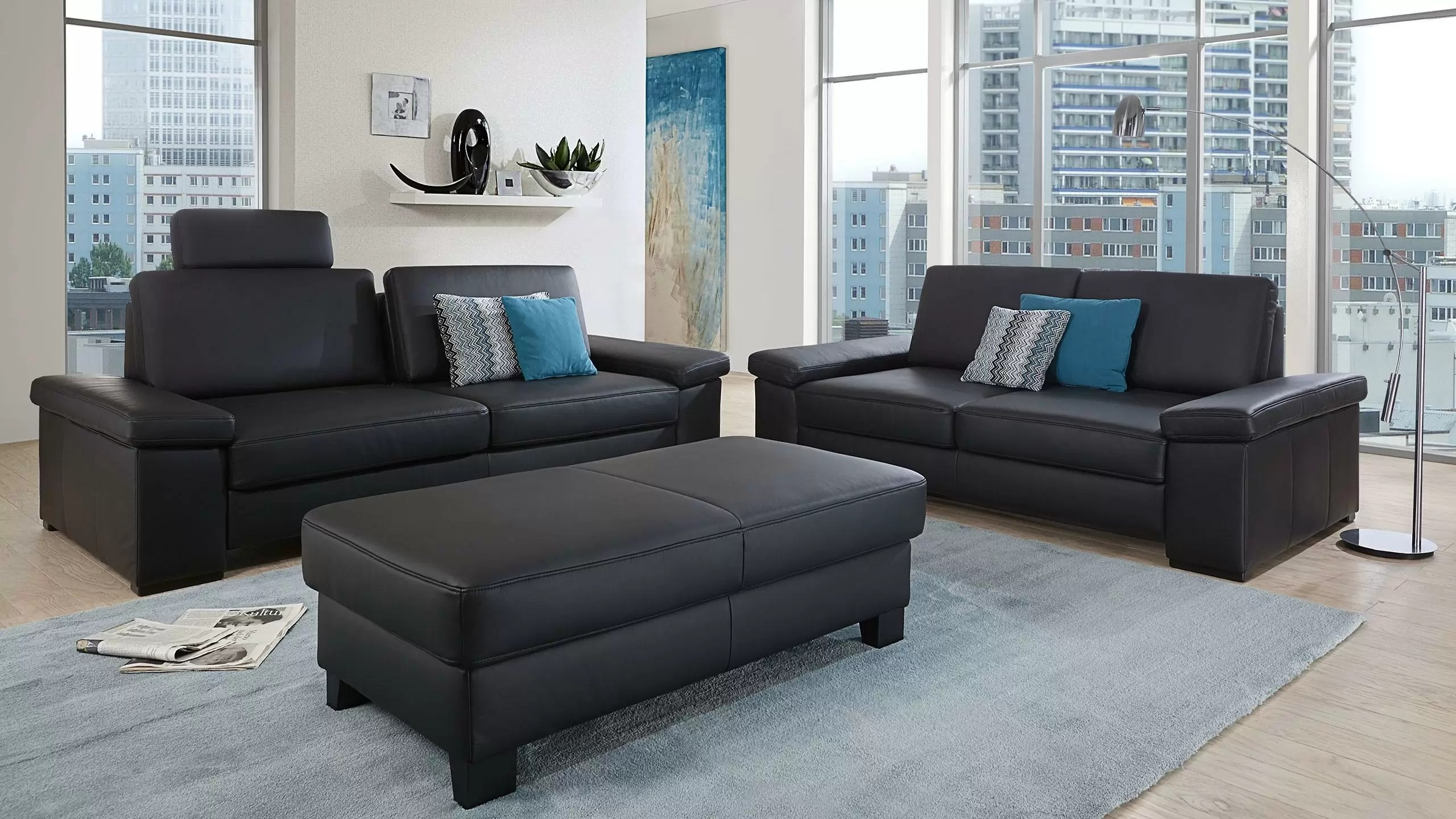 Couchgarnituren In Leder Clou Sofa Multipolster