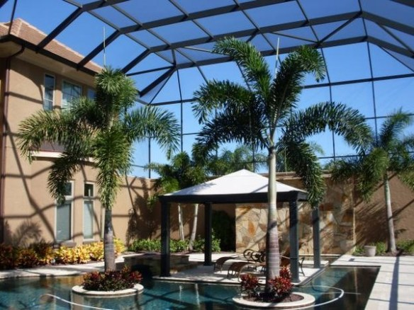 Patio pool screen enclosure for Pool design naples fl