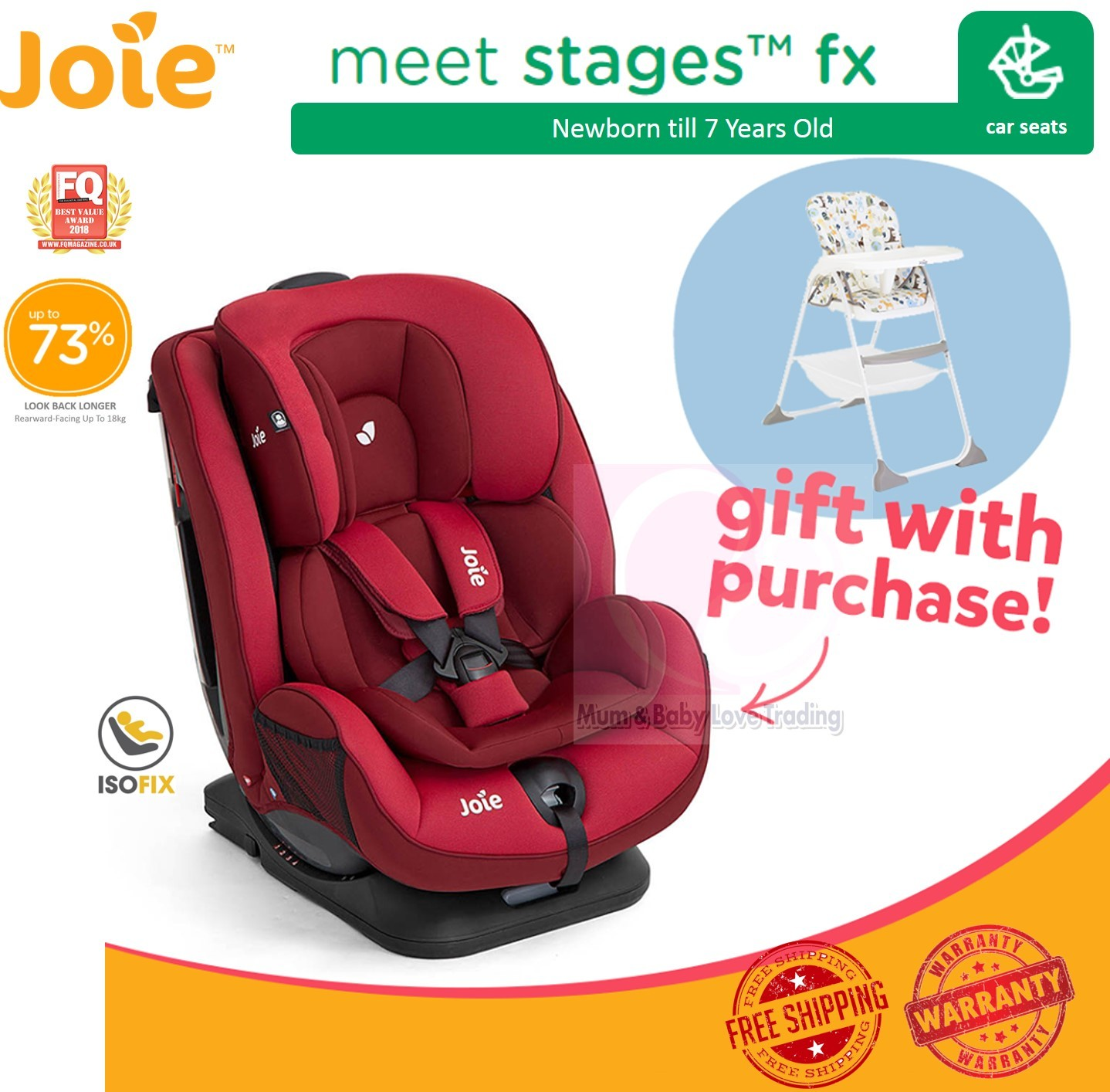 Joie Baby Car Seat Usa Joie Stages Fx Convertible Baby Car Seat With Isofix