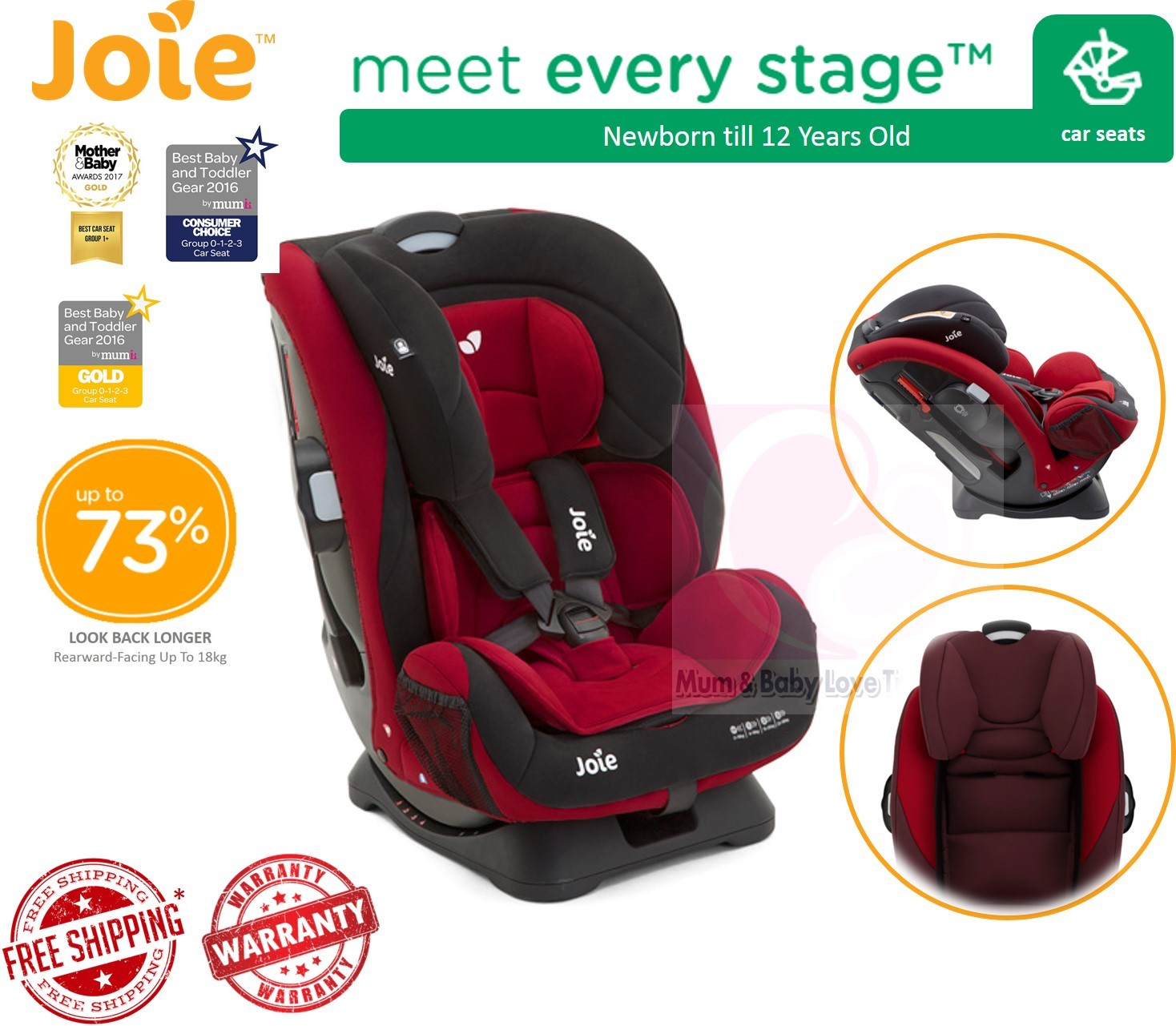 Joie Baby Car Seat Usa Joie Every Stage Convertible Baby Car Seat Newborn Till
