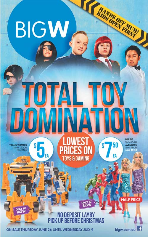Big W Toy Sale Total Toy Domination - Mum Central - christmas toy sales