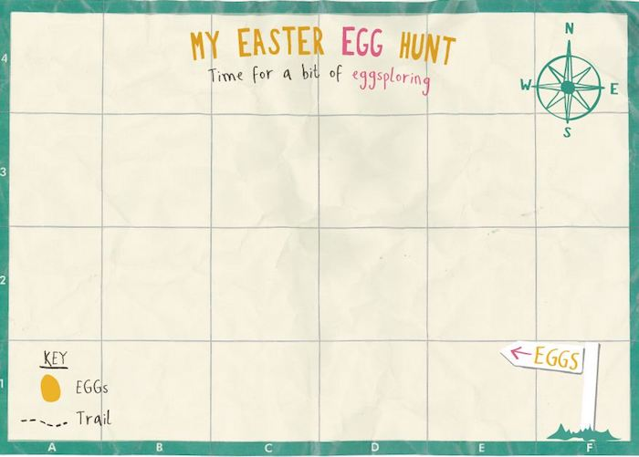 Easter Egg Hunt Map Template Images - Template Design Ideas - easter invitations template